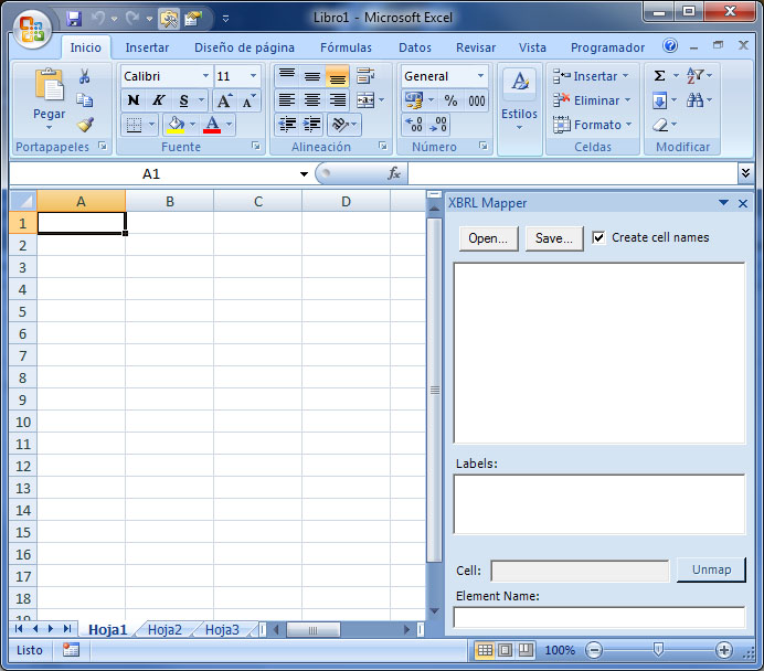Reporting Standard Excel Plug-In